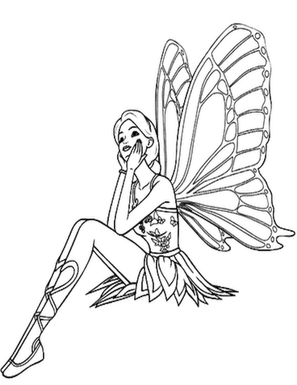 coloring pages rainbow fairies | Free Printable Fairy Coloring Pages For Kids