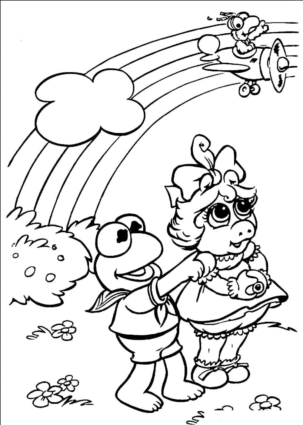 Free printable rainbow coloring pages for kids for Rainbow magic fairy coloring pages