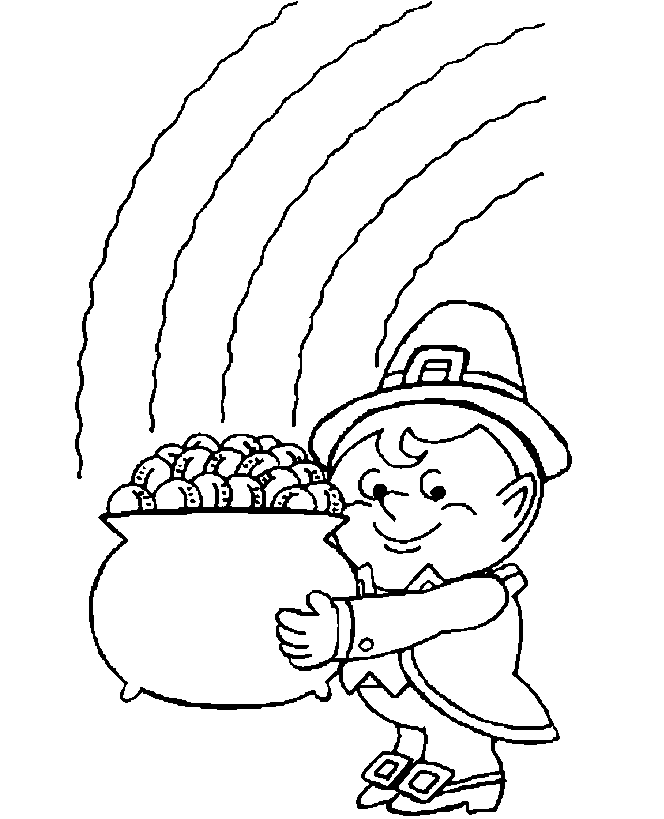 Free Printable Rainbow Coloring Pages For Kids Pot Of Gold Coloring Page