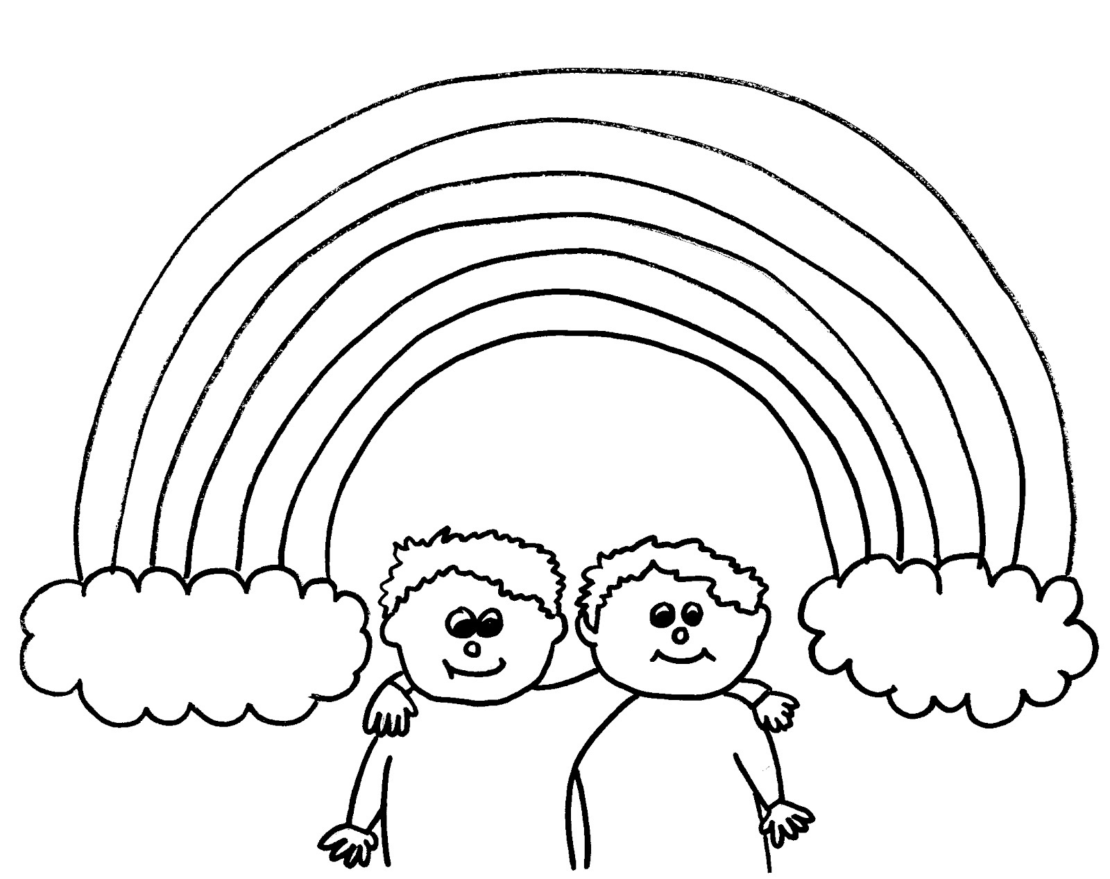 rainbows coloring pages - Rainbow Picture To Colour