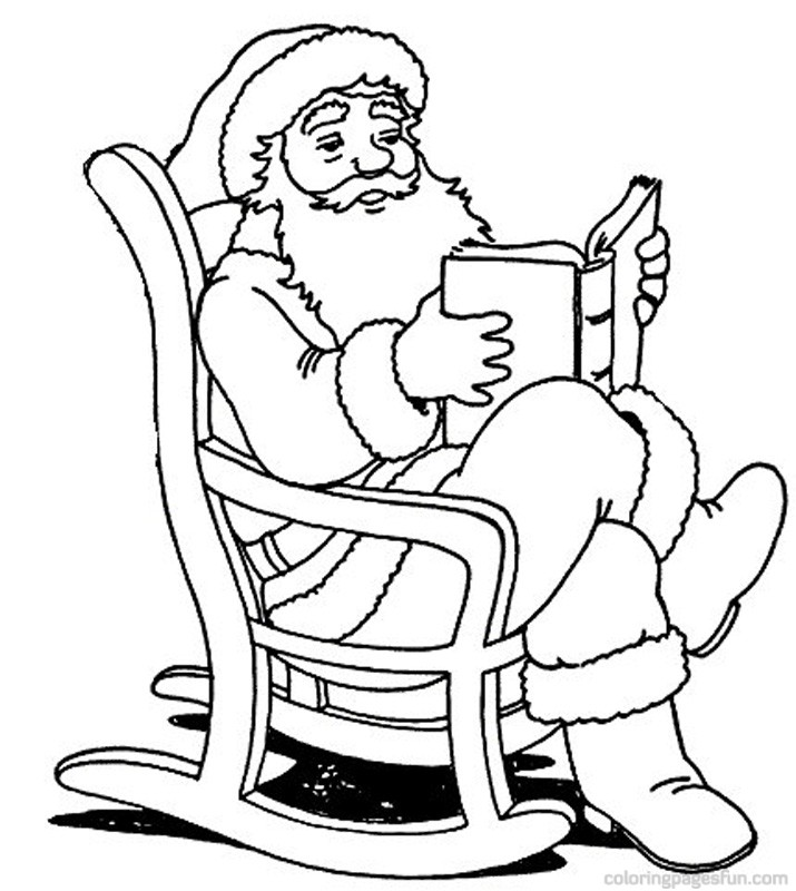 Santa Christmas Coloring Pages