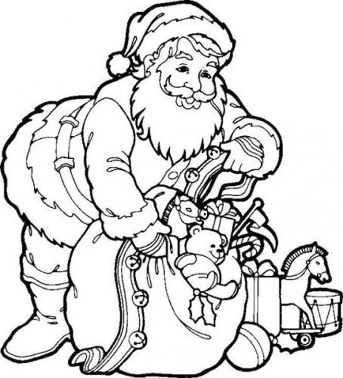 coloring pages with santa - photo#31