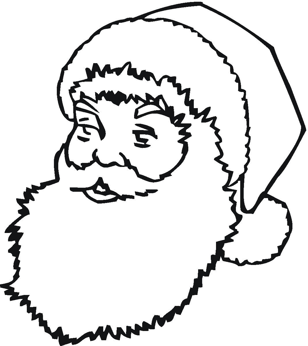 coloring pages with santa - photo#32