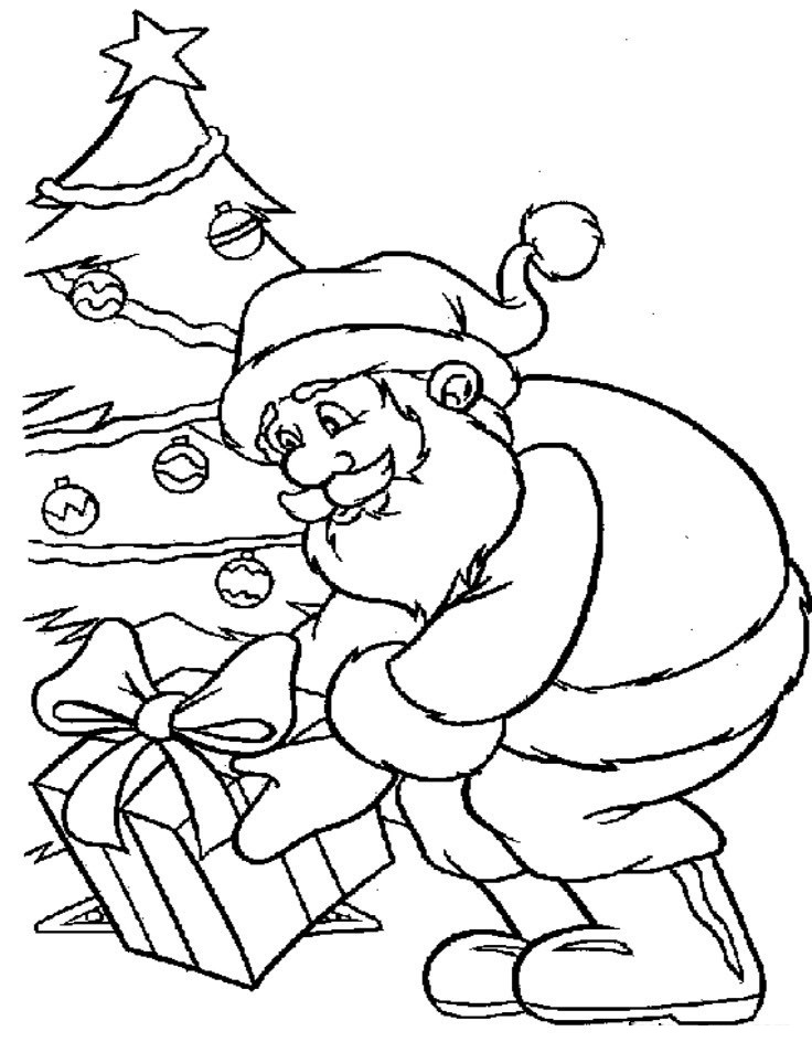 Free Printable Santa Claus Coloring Pages For Kids Tree With Santa Claus Coloring Page