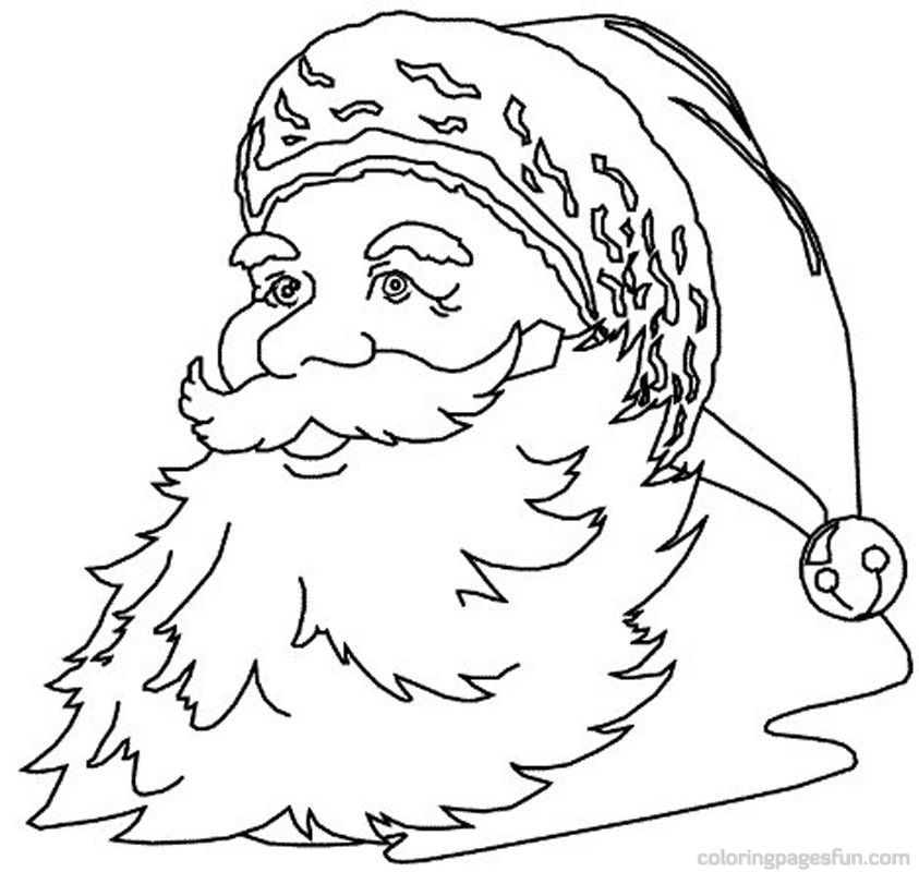 Free Coloring Pages Of Santa Clause
