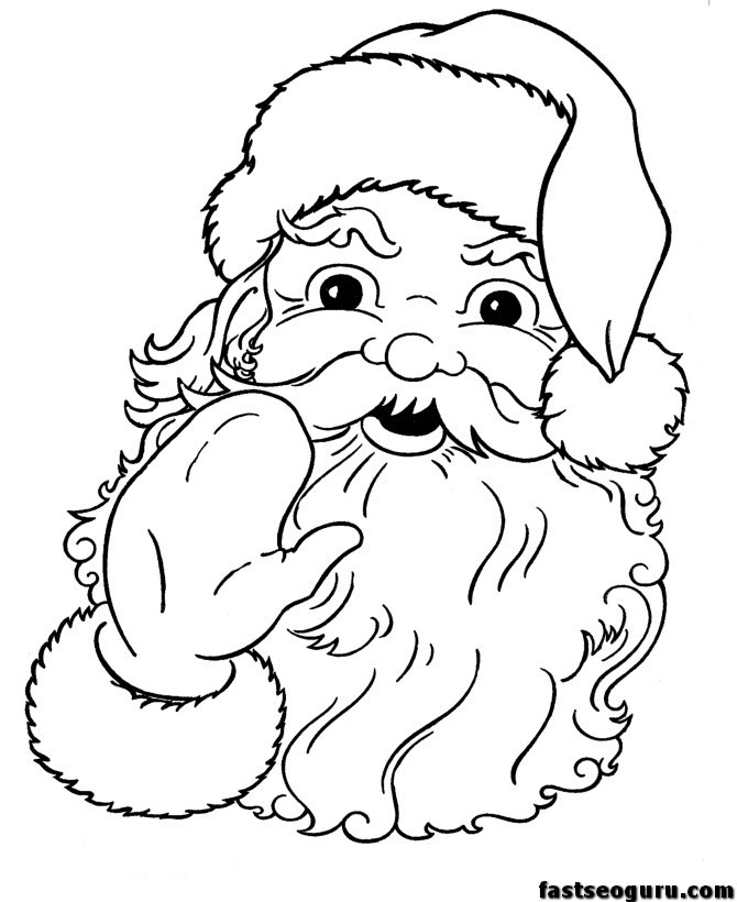 Free Printable Santa Claus Coloring Pages For Kids Free Santa Colouring Pages
