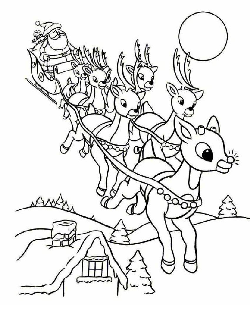 Coloring Pages Santa Claus Color Pages free printable santa claus coloring pages for kids reindeer pages