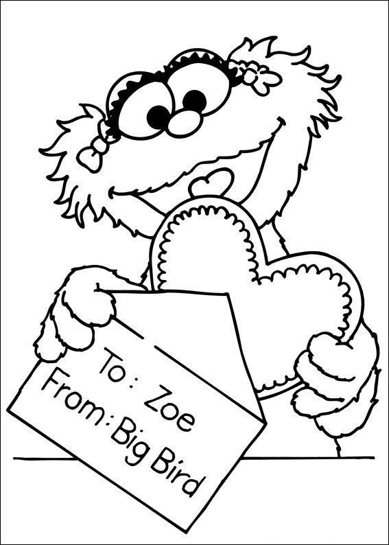 sesame street character coloring pages - photo#8