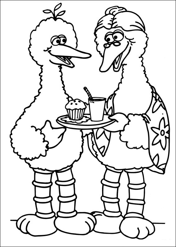 sesame street coloring pages free | Free Printable Sesame Street Coloring Pages For Kids