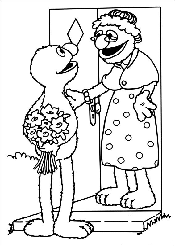 free seasme street coloring pages - photo#34