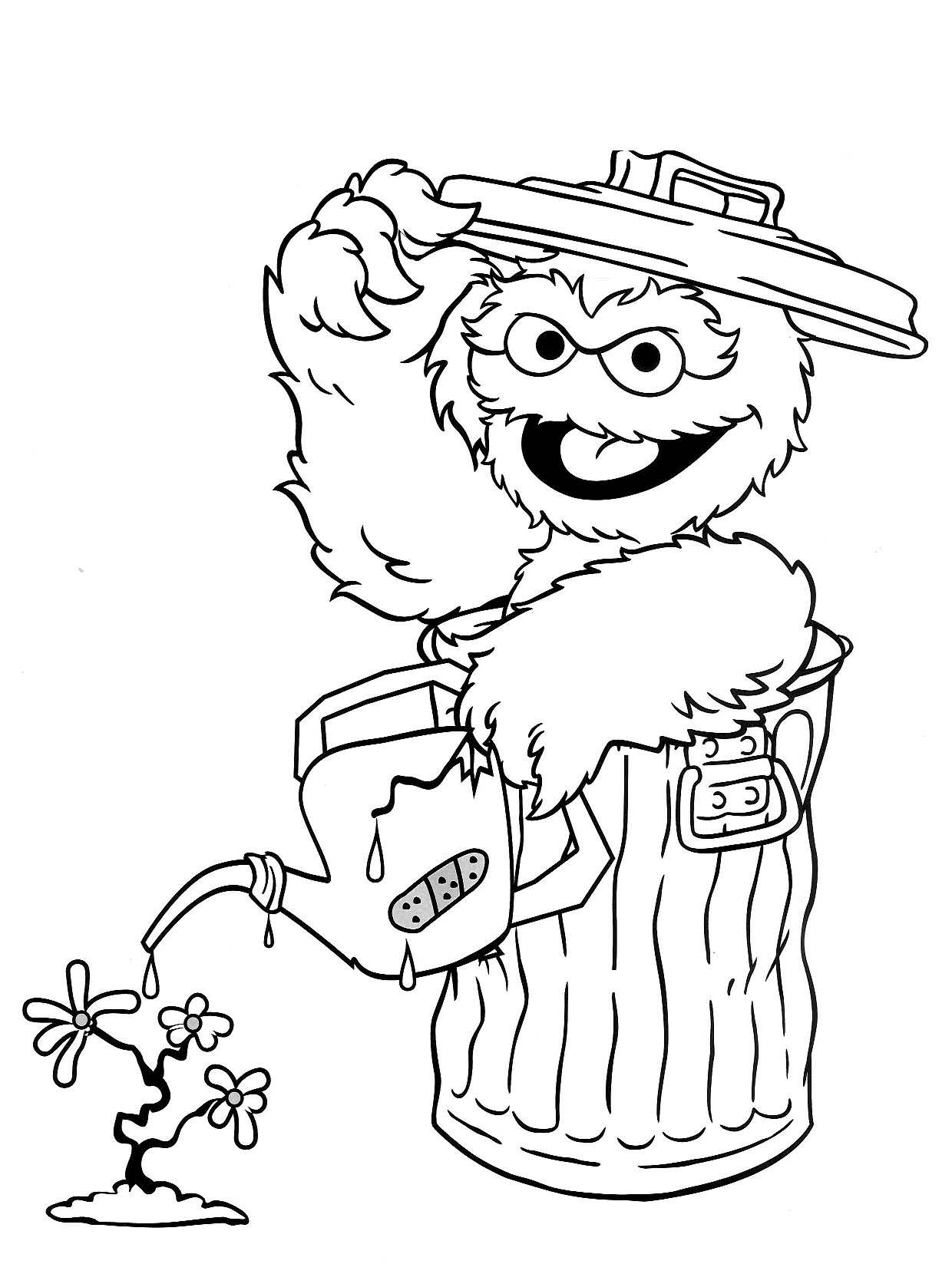 sesame street character coloring pages - photo#22
