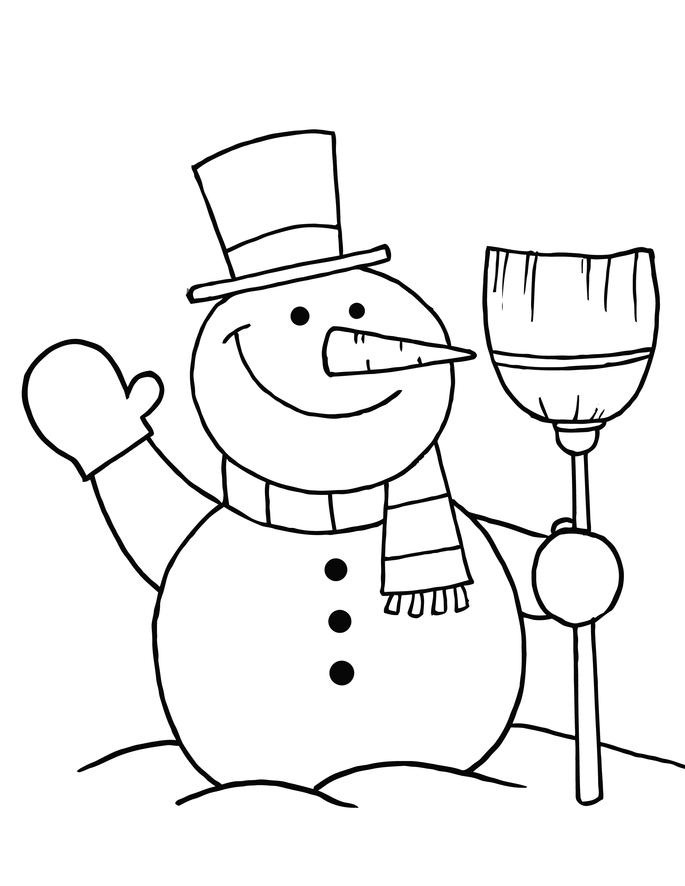 coloring pages and snowman - photo#3