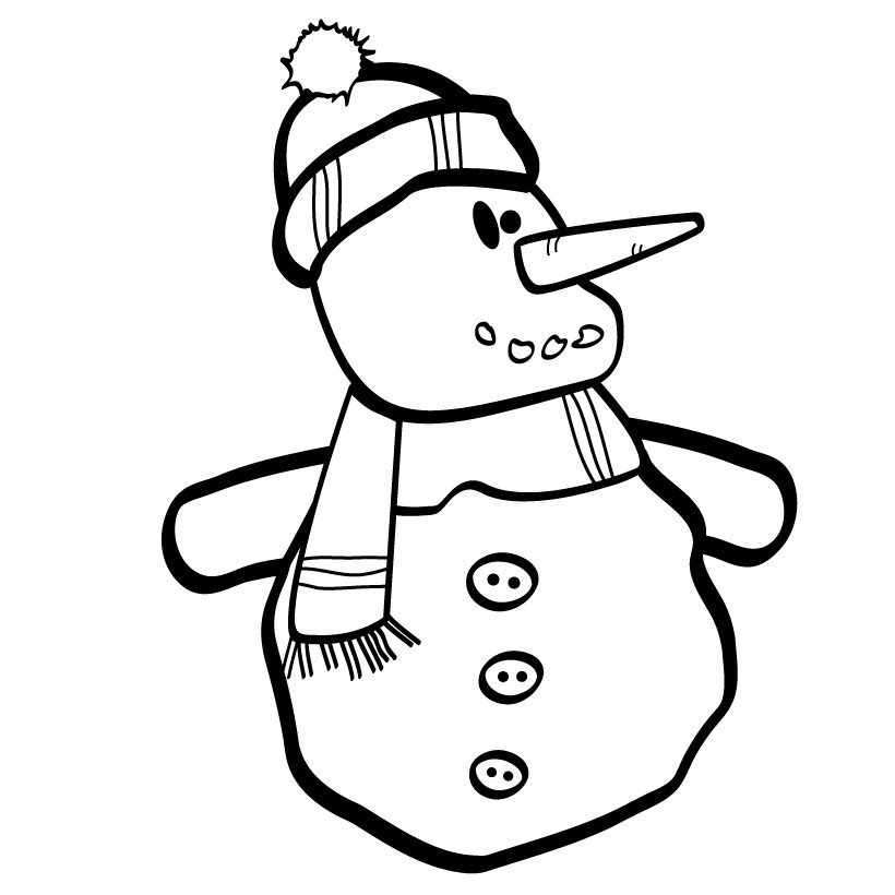 snowmen coloring pages children - photo#22