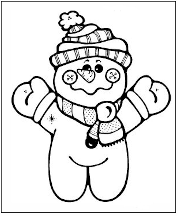 coloring pages and snowman - photo#16