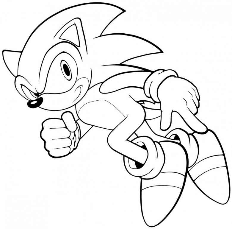 free printable sonic the hedgehog coloring pages for kids - Character Coloring Pages Print
