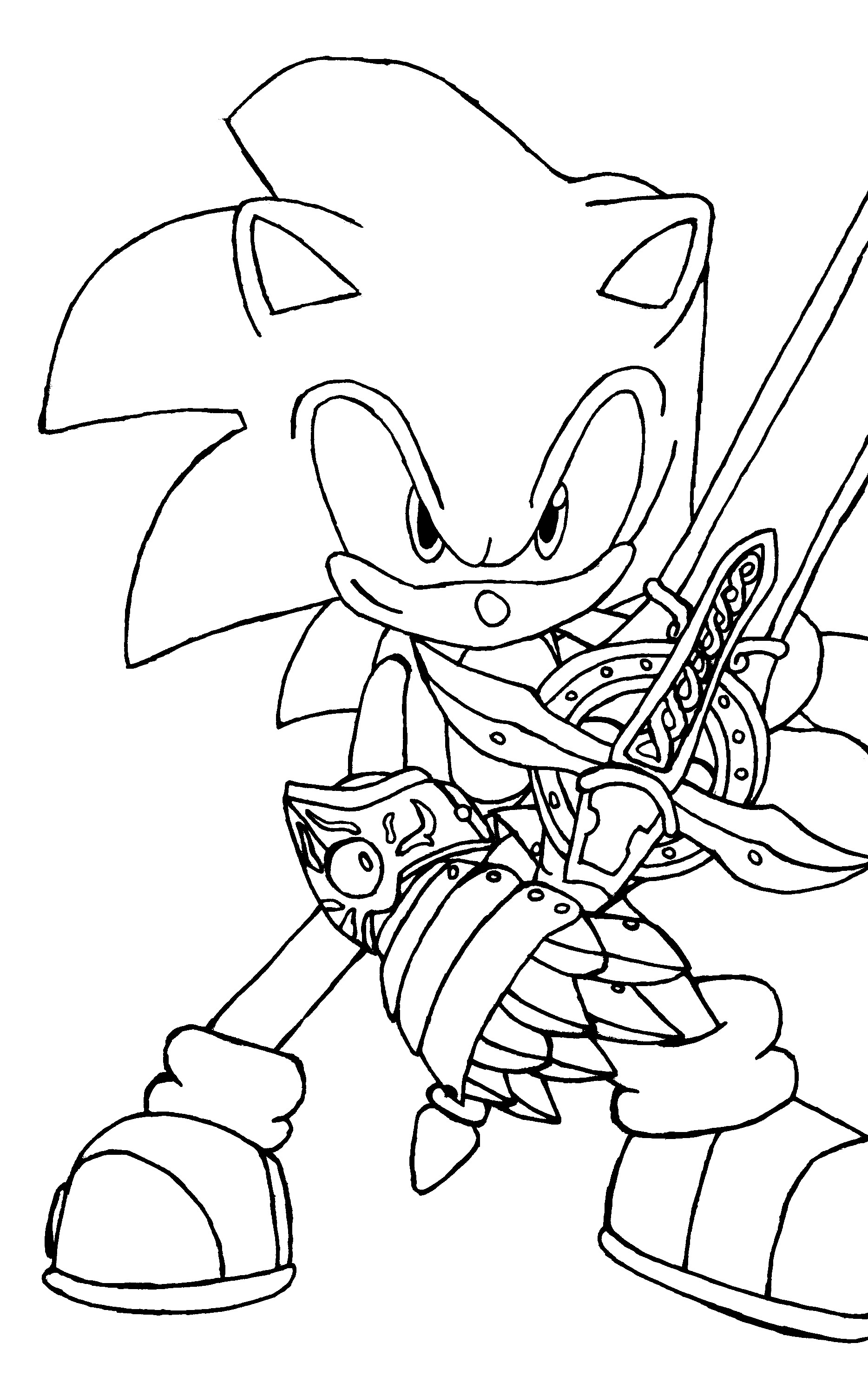 Free printable sonic the hedgehog coloring pages for kids for Coloring pages online