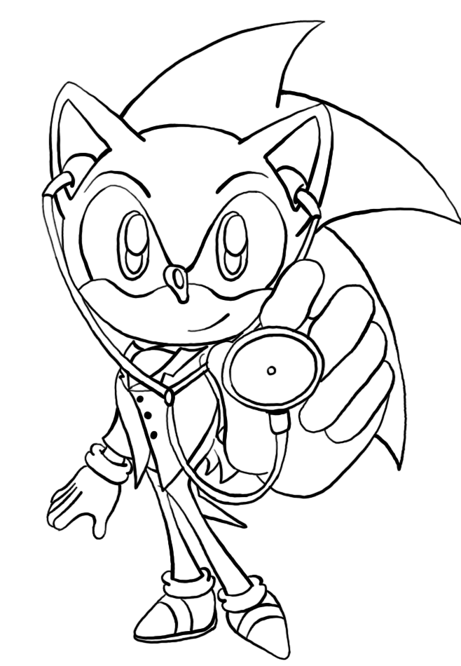 sonic coloring pages to print free - Sonic The Hedgehog Coloring Pages