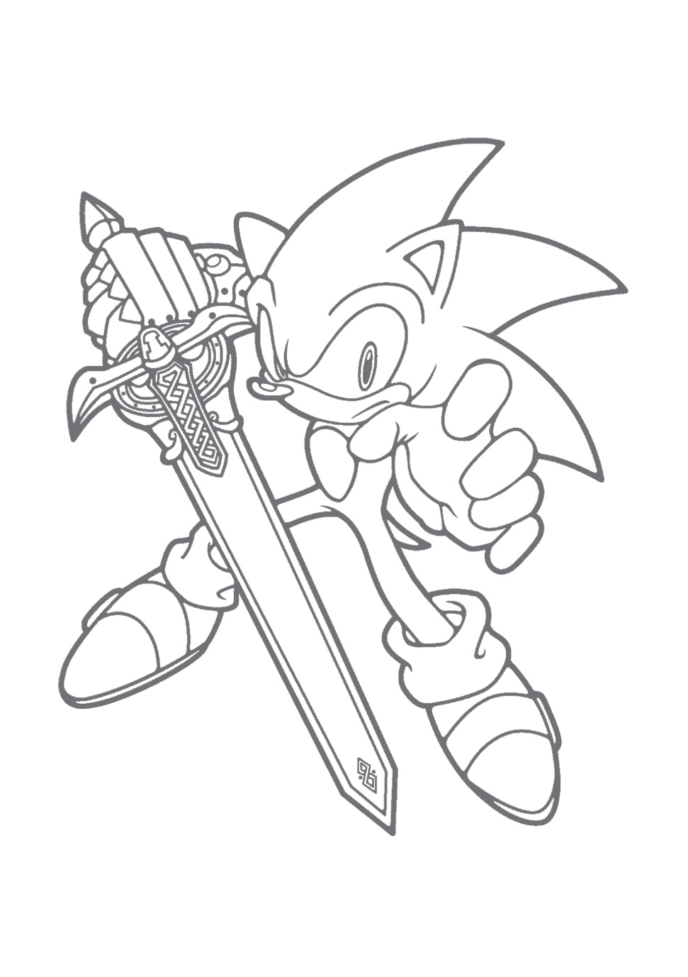 sonic christmas coloring pages - photo#32