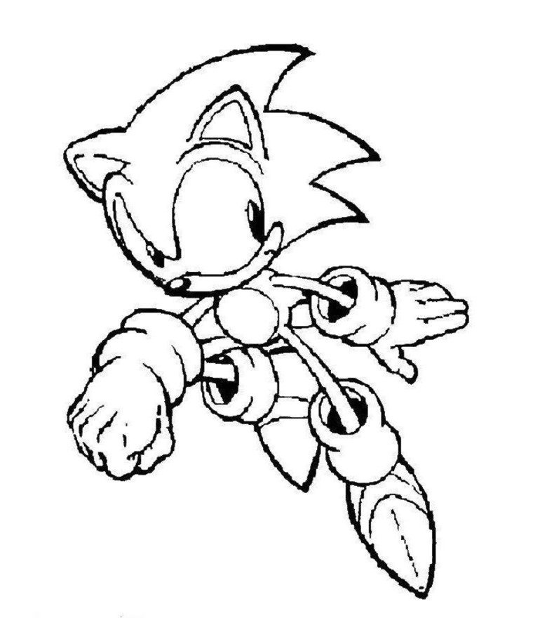 Free Printable Sonic The Hedgehog Coloring Pages For Kids - sonic color pages game