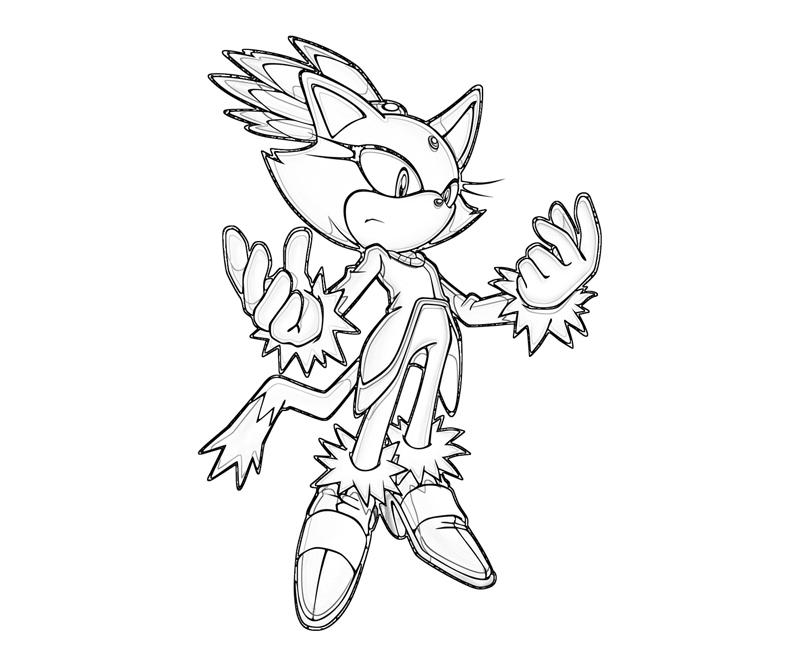 Sonic Riders Coloring Pages