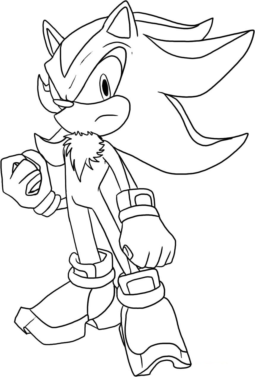 Free Coloring Pages Of All Shadow Sonic The Hedgehog Coloring Pages Free