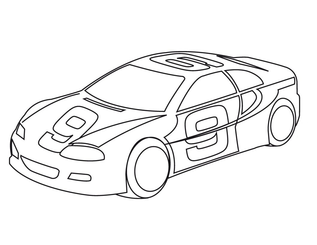 printabl sportcar coloring pages - photo#4