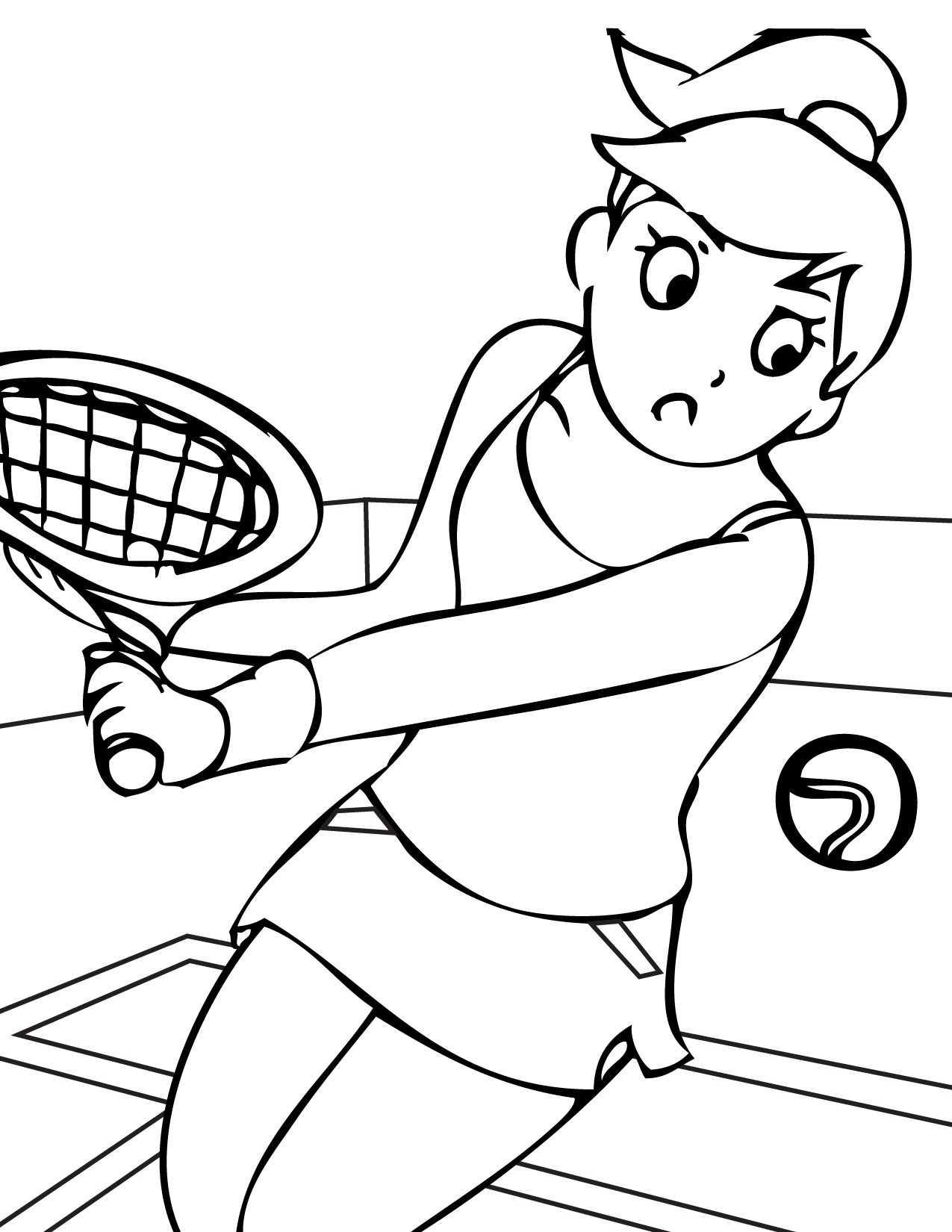 boy sports coloring pages - photo#26