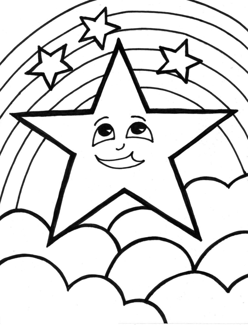 large printable star coloring pages - photo #30