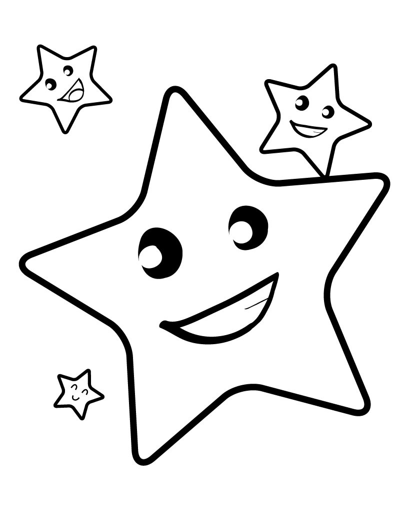 Moon coloring pages for preschoolers - Star Coloring Pages