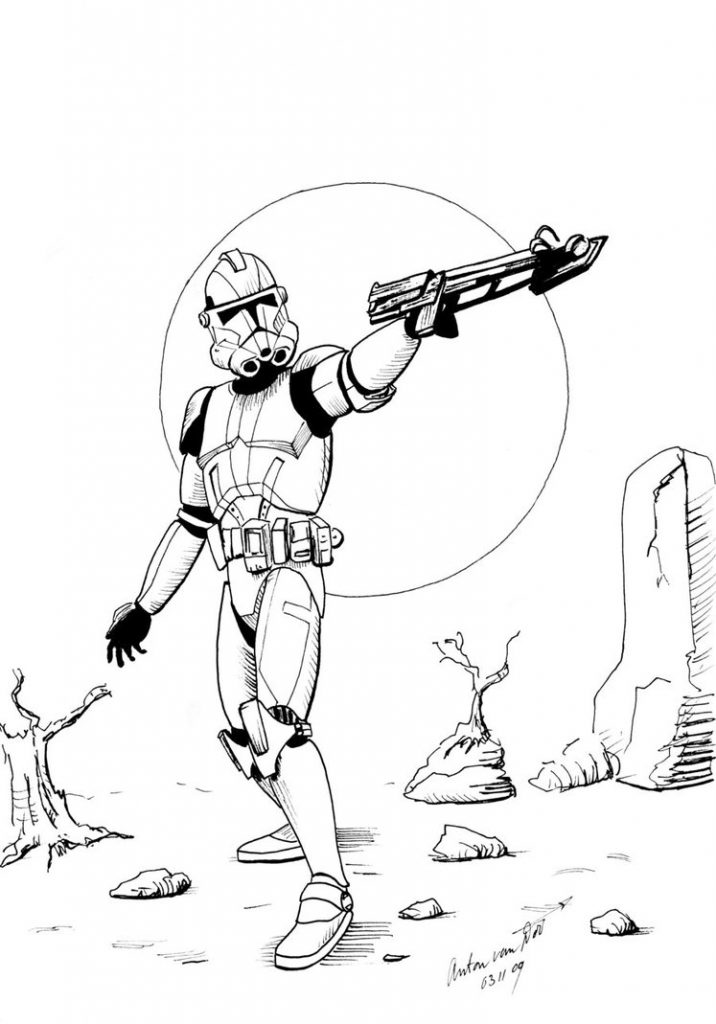 Star Wars Clone Coloring Page