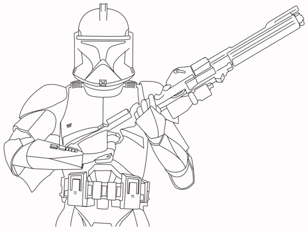 stormtrooper coloring page - Printable Coloring Pages Star Wars