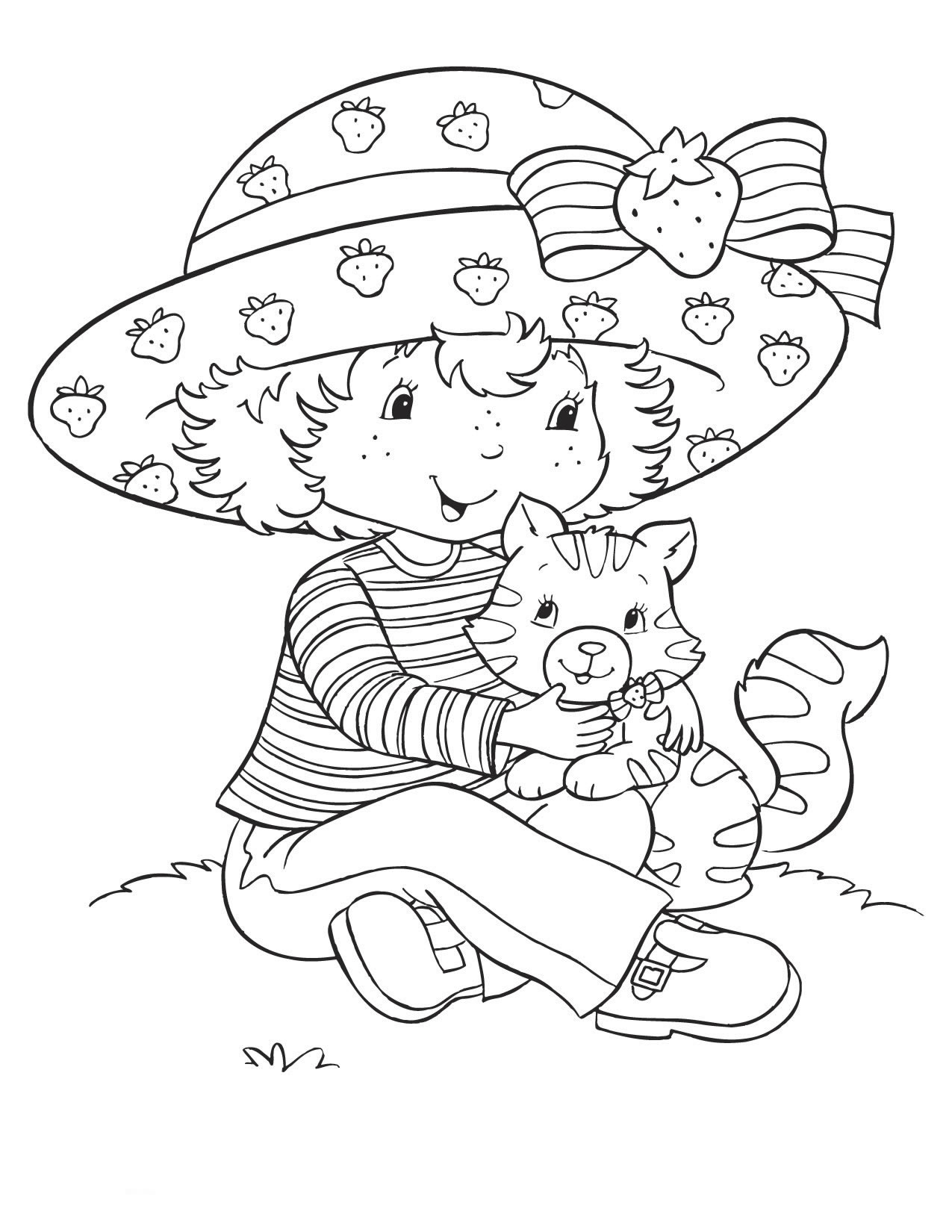 Free Printable Strawberry Shortcake Coloring Pages For Kids Coloring Characters