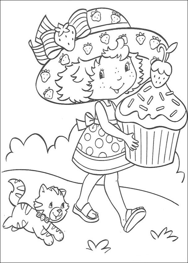 online strawberry shortcake coloring pages - photo#2