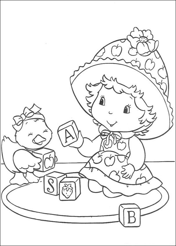 stawberry shortcake coloring pages - photo#34