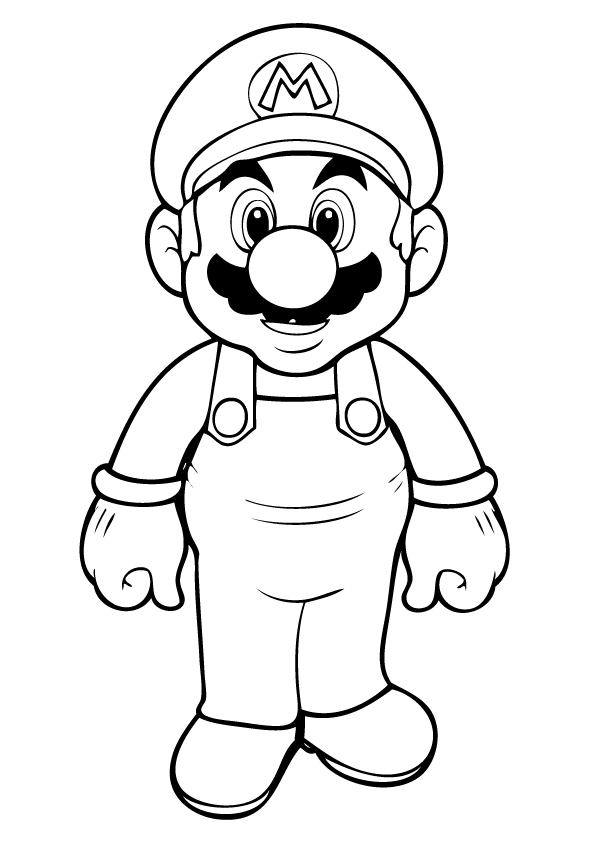 Free printable mario coloring pages for kids for Super mario 64 coloring pages