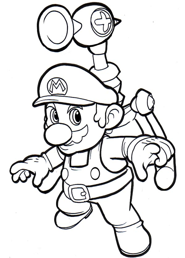 mega mario coloring pages - photo#19