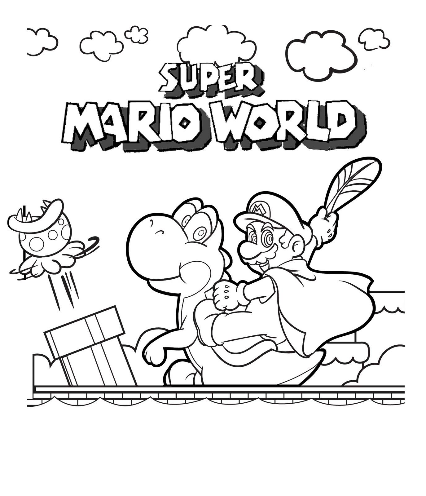 mega mario coloring pages - photo#8