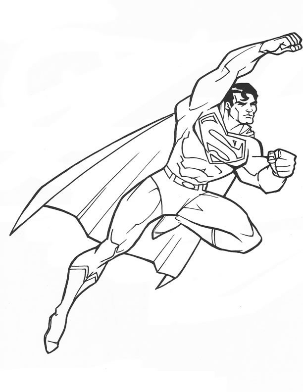 Dynamic image for superman printable coloring pages