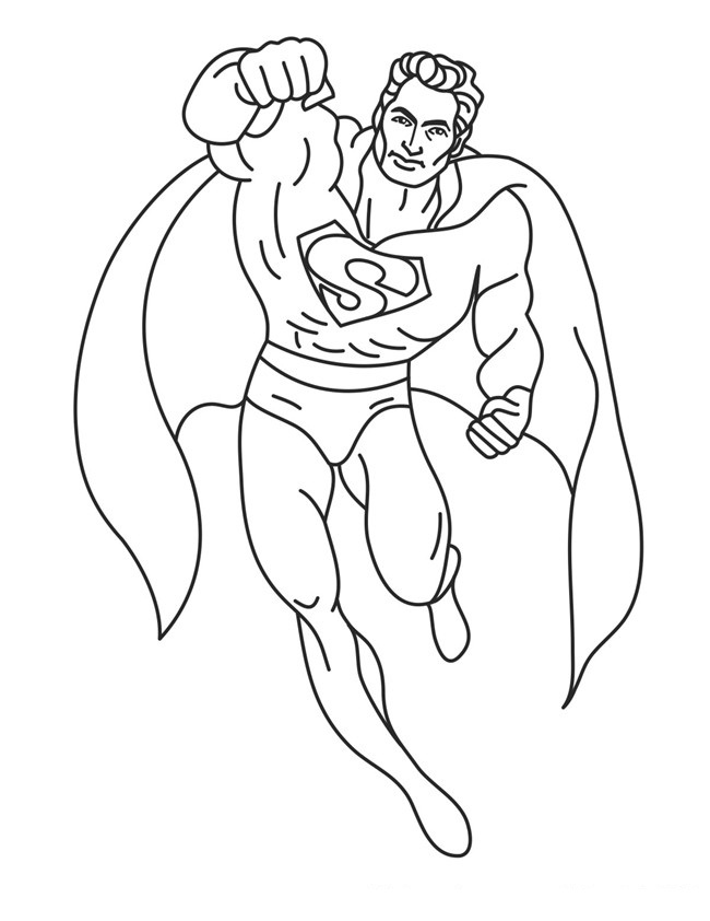 free printable superman coloring pages for kids - Kids Free Printable Coloring Pages