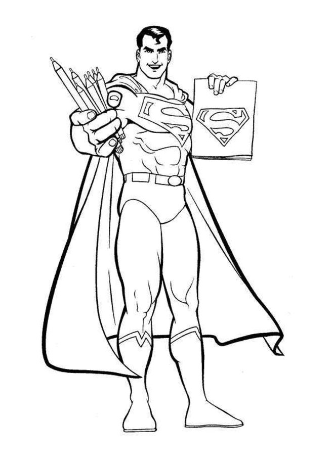 superman coloring pages kids