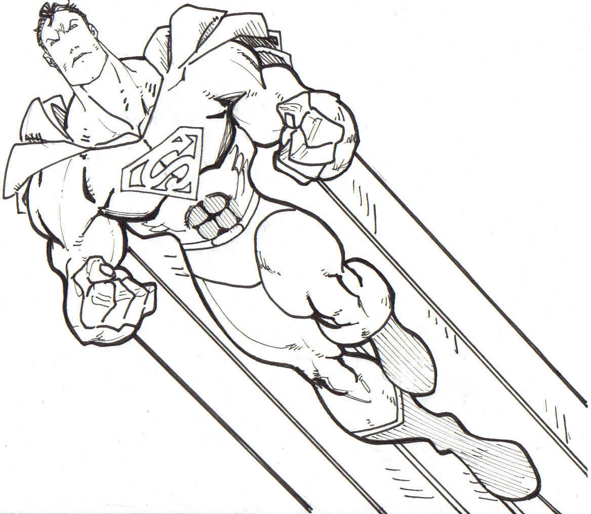 Dramatic image within superman printable coloring pages