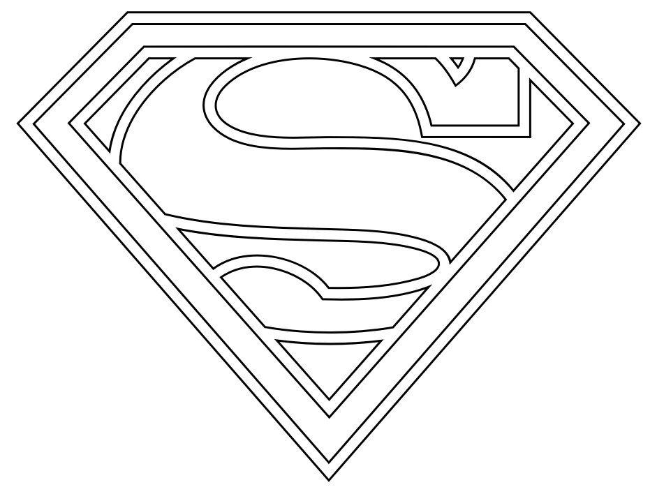 superman logo coloring pages - Coloring Pages Kids Printable