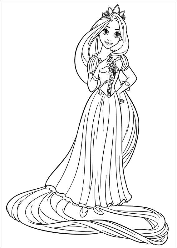 free printable tangled coloring pages for kids, printable coloring