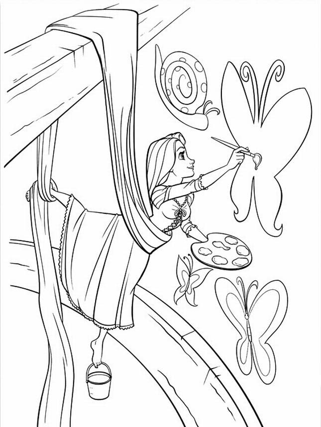 Free Coloring Pages Of Rapunzel Tower Printable Rapunzel Coloring Pages