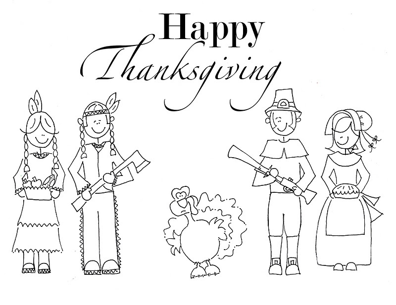 Thanksgiving Coloring Pages For Preschool Kids
