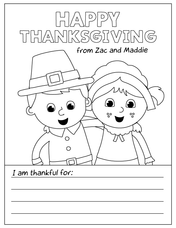 Printable Thanksgiving Coloring Pages For Kids