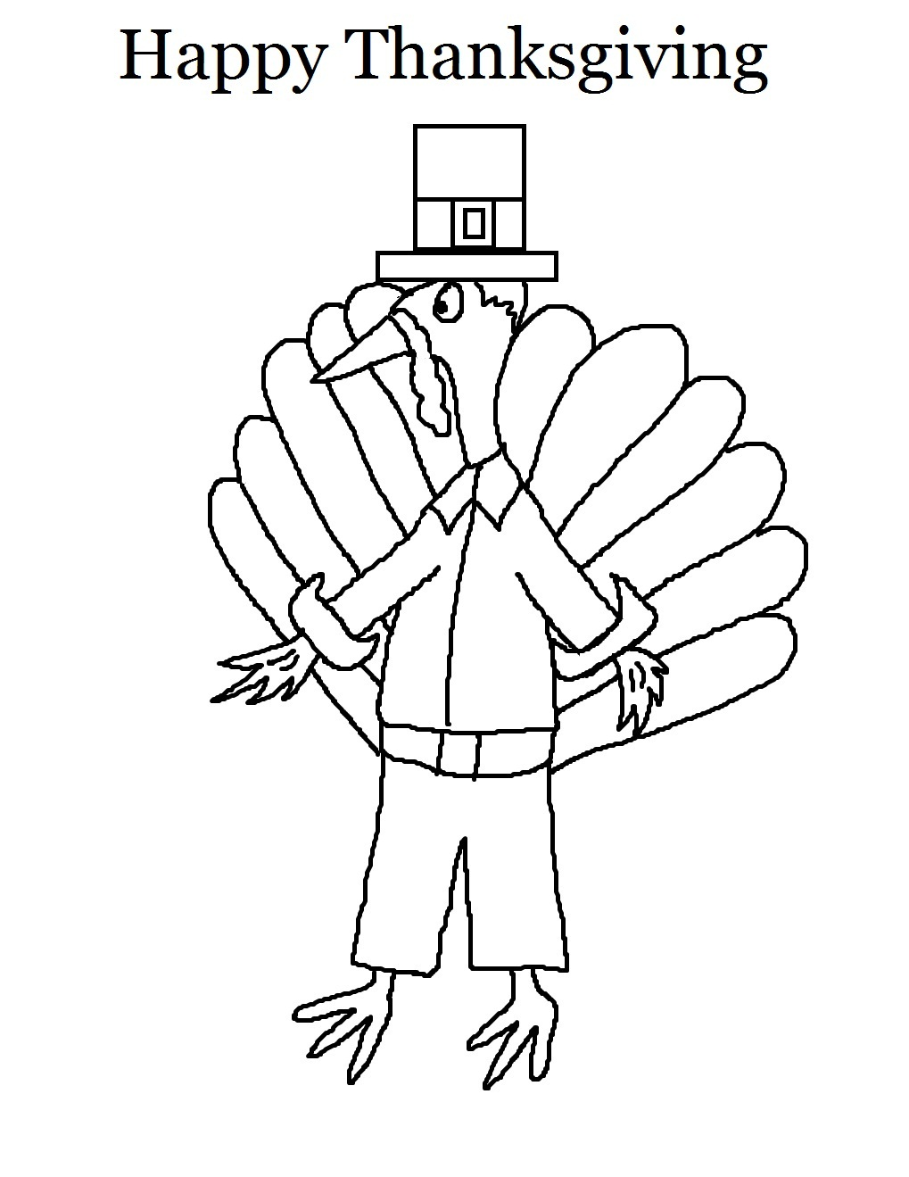 free coloring pages of turkey thanksgiving