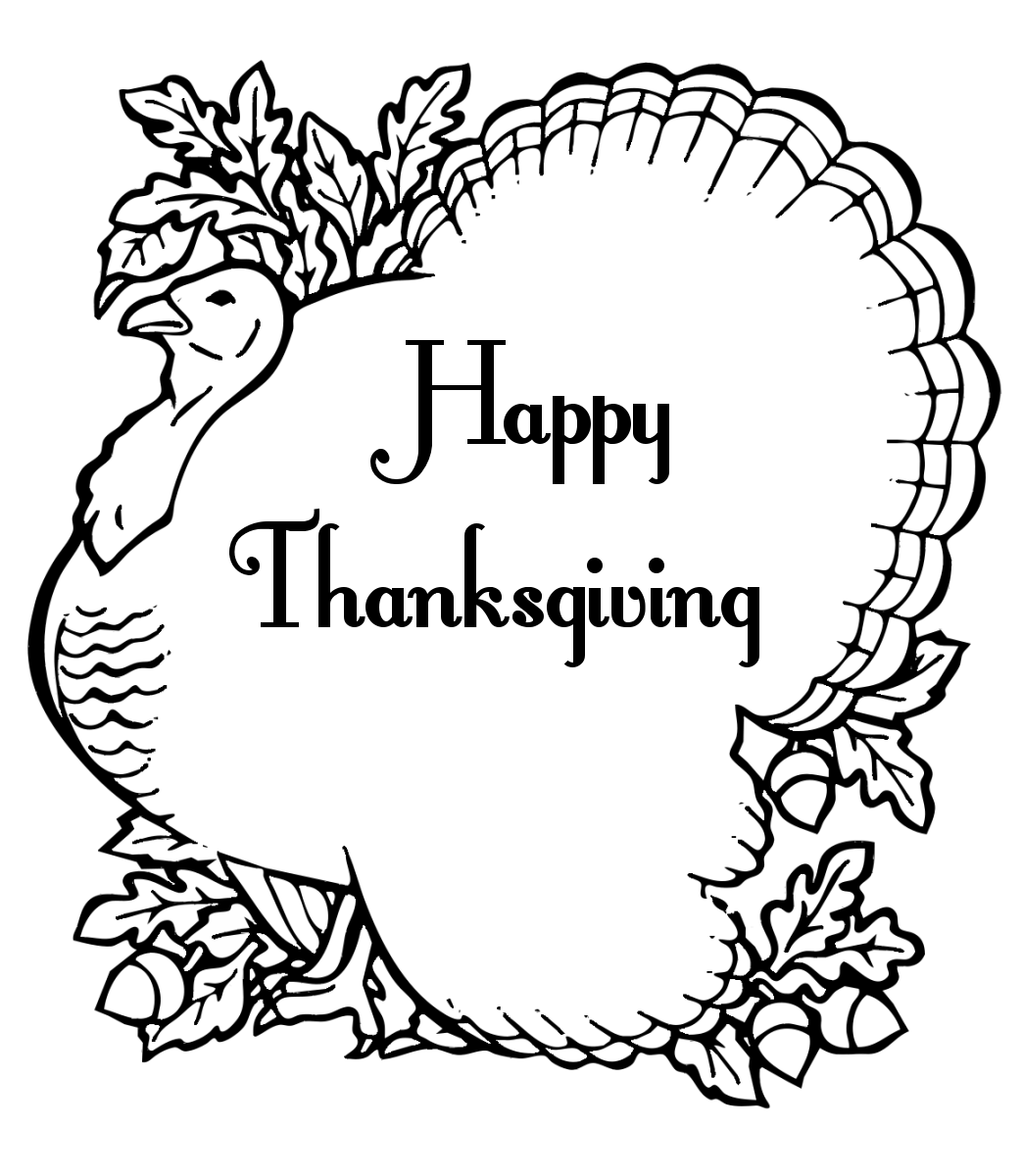 Printable adult thanksgiving coloring sheet - Thanksgiving Turkey Coloring Pages