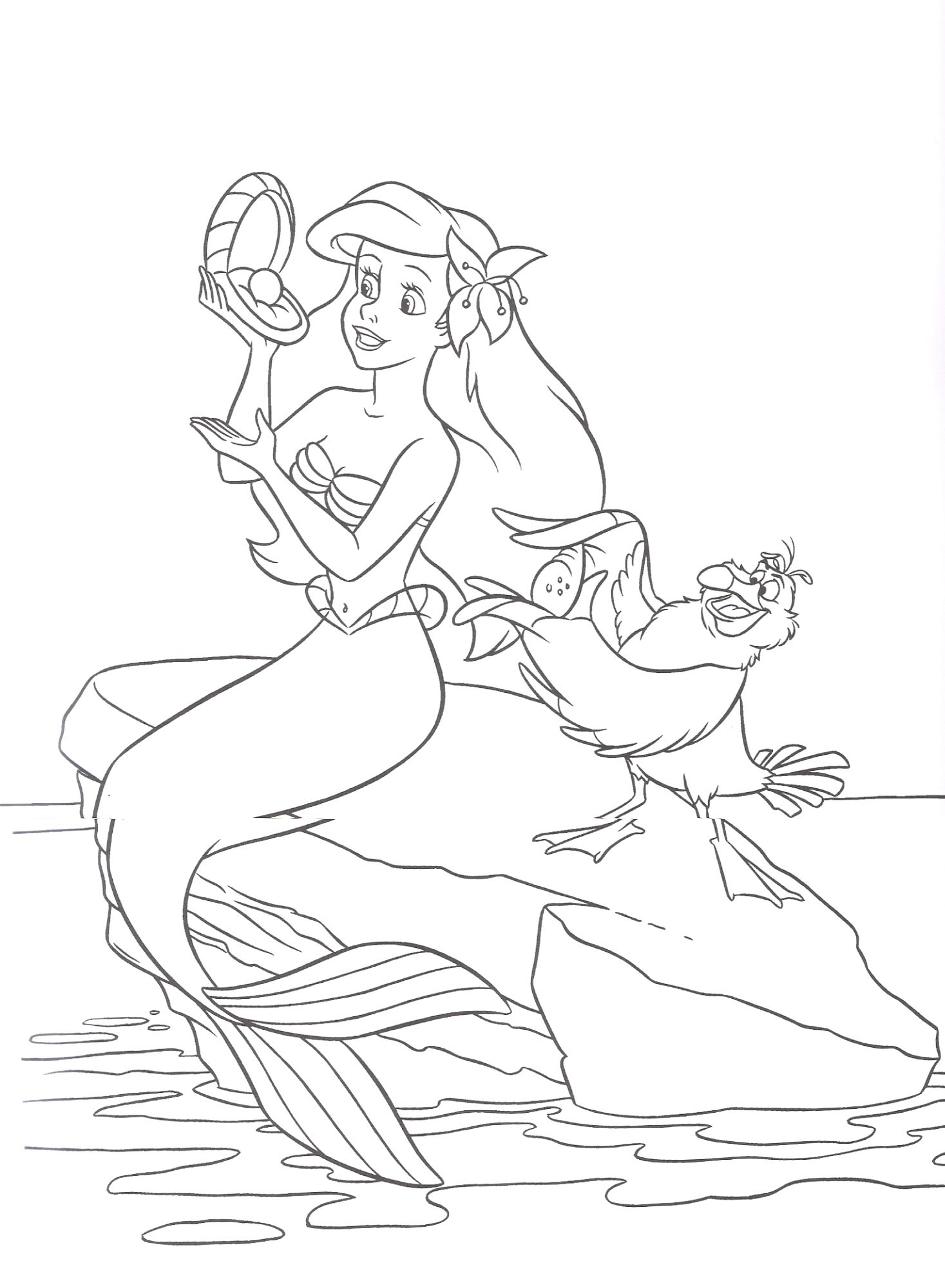 Free Coloring Pages Of Ariel The Little Mermaid