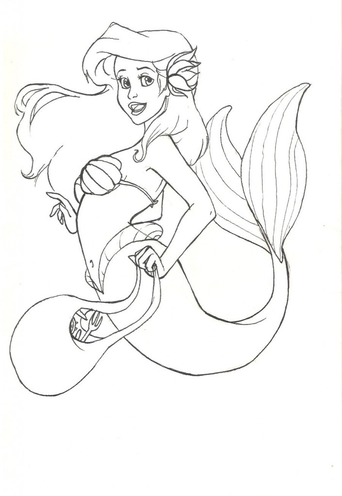 The Little Mermaid Printable Coloring Pages